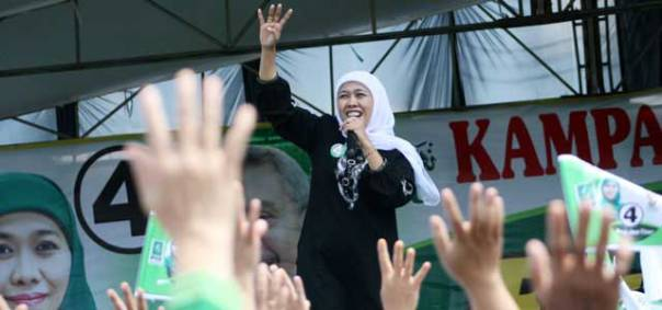 Khofifah Indar Parawansa kampanye